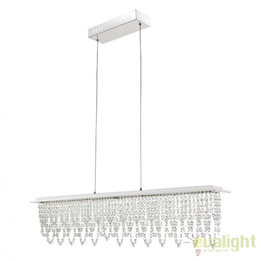 Lustra LED suspendata cu telecomanda Scala 24W 68405-24H GL, Lampi LED si Telecomanda, Corpuri de iluminat, lustre, aplice, veioze, lampadare, plafoniere. Mobilier si decoratiuni, oglinzi, scaune, fotolii. Oferte speciale iluminat interior si exterior. Livram in toata tara.  a
