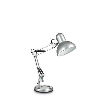 Lampa de birou cu brat articulat KELLY TL1 ARGENTO 108087, Veioze de Birou moderne, Corpuri de iluminat, lustre, aplice, veioze, lampadare, plafoniere. Mobilier si decoratiuni, oglinzi, scaune, fotolii. Oferte speciale iluminat interior si exterior. Livram in toata tara.  a