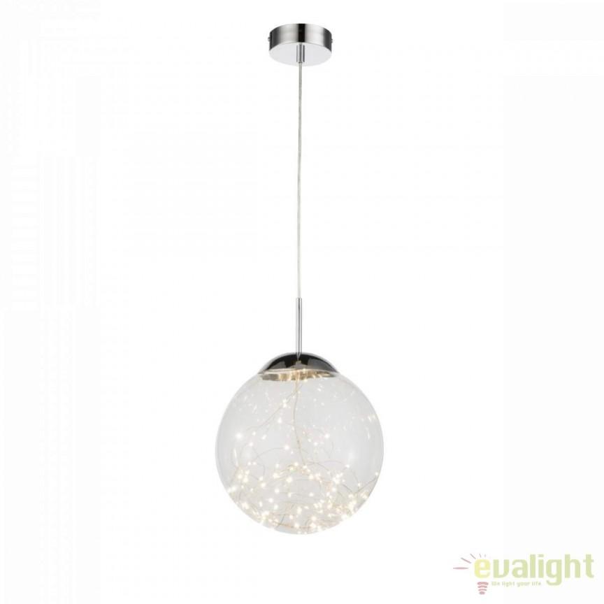 Pendul LED design modern diam.30cm Manam II 158054 GL, Lustre LED, Pendule LED, Corpuri de iluminat, lustre, aplice, veioze, lampadare, plafoniere. Mobilier si decoratiuni, oglinzi, scaune, fotolii. Oferte speciale iluminat interior si exterior. Livram in toata tara.  a
