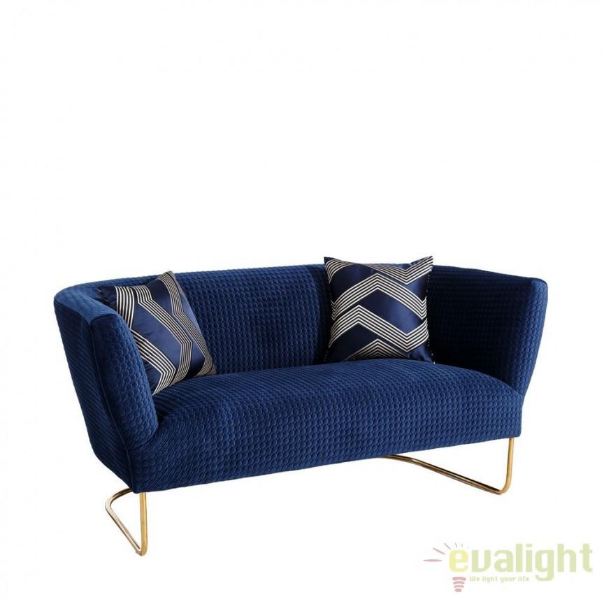 Canapea fixa 2 locuri, eleganta design LUX Azur DZ-101272, Canapele - Coltare, Corpuri de iluminat, lustre, aplice, veioze, lampadare, plafoniere. Mobilier si decoratiuni, oglinzi, scaune, fotolii. Oferte speciale iluminat interior si exterior. Livram in toata tara.  a