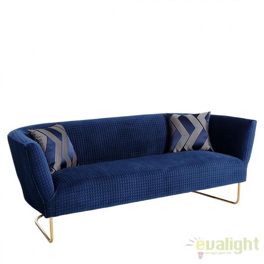 Canapea fixa 3 locuri, eleganta design LUX Azur DZ-101273, Canapele - Coltare, Corpuri de iluminat, lustre, aplice, veioze, lampadare, plafoniere. Mobilier si decoratiuni, oglinzi, scaune, fotolii. Oferte speciale iluminat interior si exterior. Livram in toata tara.  a