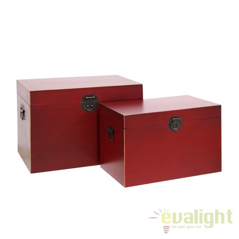 Set de 2 cufare design oriental ORIENT, rosu SX-50043, Mobilier divers,  a