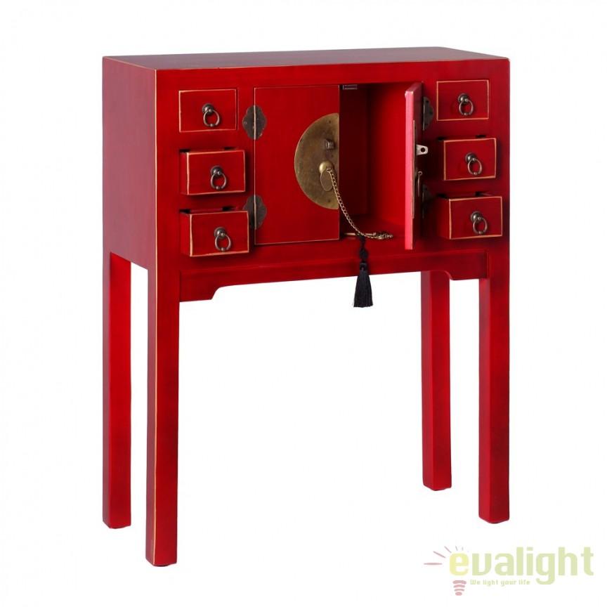 Consola design oriental cu 2 usi ORIENT, rosu SX-51149, Console - Birouri, Corpuri de iluminat, lustre, aplice, veioze, lampadare, plafoniere. Mobilier si decoratiuni, oglinzi, scaune, fotolii. Oferte speciale iluminat interior si exterior. Livram in toata tara.  a