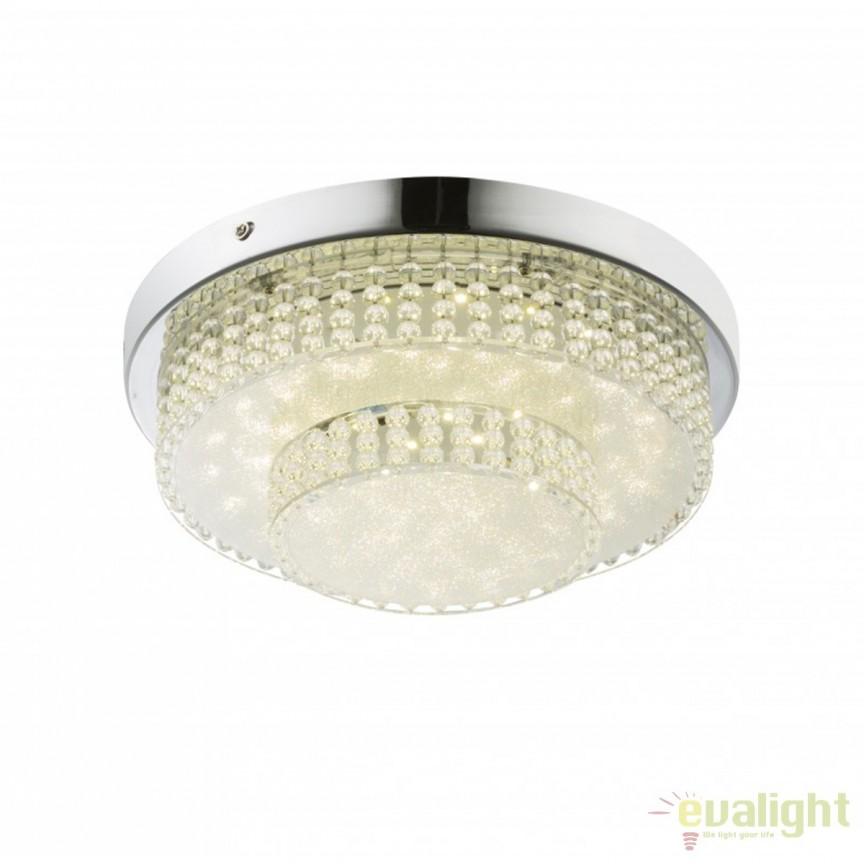 Plafoniera LED design modern diam.28cm Cake 16W 48213-16 GL, ILUMINAT INTERIOR LED , ⭐ modele moderne de lustre LED cu telecomanda potrivite pentru living, bucatarie, birou, dormitor, baie, camera copii (bebe si tineret), casa scarii, hol. ✅Design de lux premium actual Top 2020! ❤️Promotii lampi LED❗ ➽ www.evalight.ro. Alege oferte la sisteme si corpuri de iluminat cu LED dimabile (becuri cu leduri si module LED integrate cu lumina calda, naturala sau rece), ieftine si de lux. Cumpara la comanda sau din stoc, oferte si reduceri speciale cu vanzare rapida din magazine la cele mai bune preturi. Te aşteptăm sa admiri calitatea superioara a produselor noastre live în showroom-urile noastre din Bucuresti si Timisoara❗ a