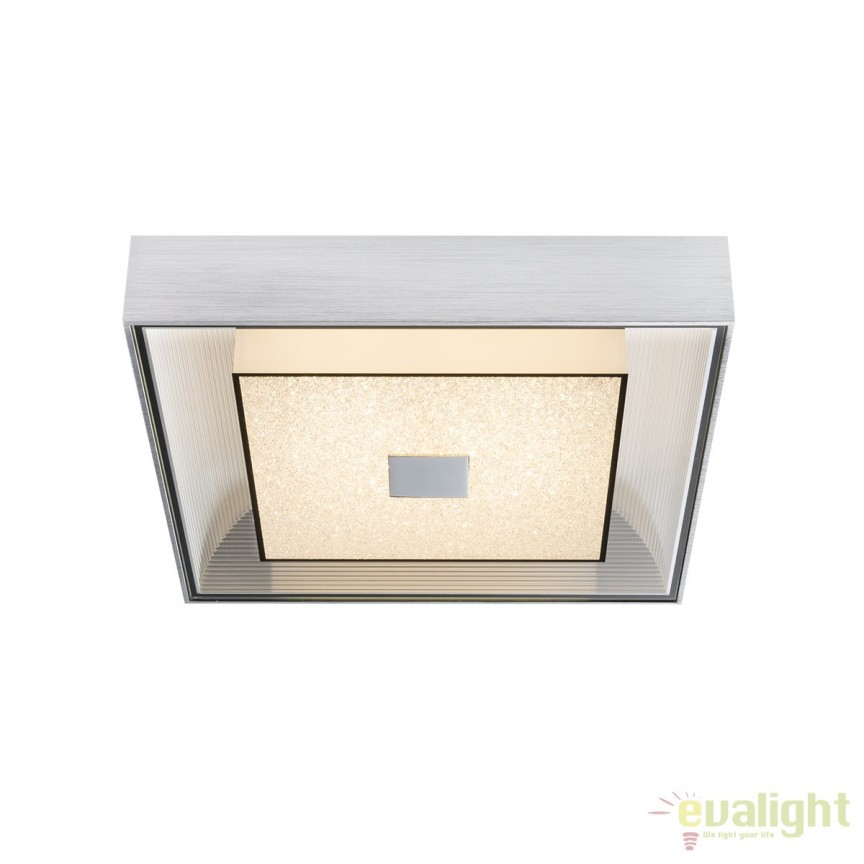 Lustra LED aplicata design modern Vincenz 12W 49000-12 GL, Lustre LED, Pendule LED, Corpuri de iluminat, lustre, aplice, veioze, lampadare, plafoniere. Mobilier si decoratiuni, oglinzi, scaune, fotolii. Oferte speciale iluminat interior si exterior. Livram in toata tara.  a