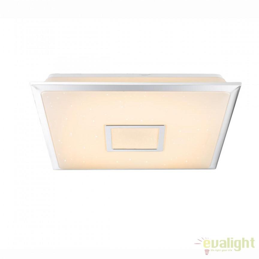 Plafoniera LED cu telecomanda design modern Rena 40W 48381 GL, Lampi LED si Telecomanda, Corpuri de iluminat, lustre, aplice, veioze, lampadare, plafoniere. Mobilier si decoratiuni, oglinzi, scaune, fotolii. Oferte speciale iluminat interior si exterior. Livram in toata tara.  a
