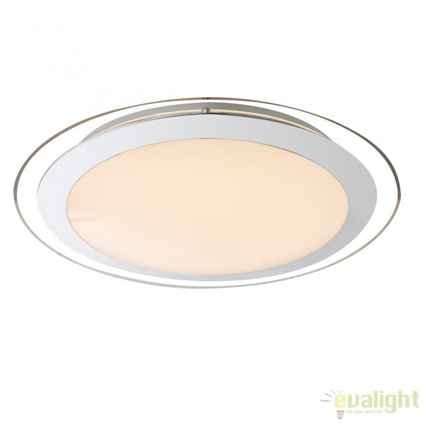 Plafoniera LED cu telecomanda design modern Nicole 60W 48365-60 GL, PROMOTII, Corpuri de iluminat, lustre, aplice, veioze, lampadare, plafoniere. Mobilier si decoratiuni, oglinzi, scaune, fotolii. Oferte speciale iluminat interior si exterior. Livram in toata tara.  a