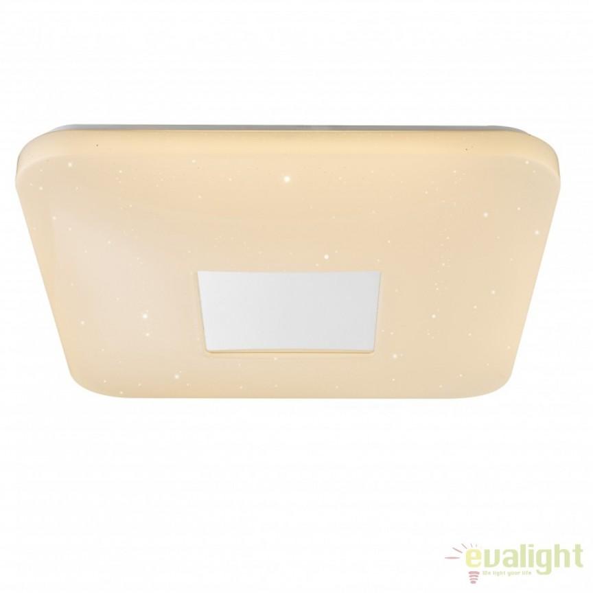 Plafoniera LED cu telecomanda design modern Turkana I 41337-24 GL, Lampi LED si Telecomanda, Corpuri de iluminat, lustre, aplice, veioze, lampadare, plafoniere. Mobilier si decoratiuni, oglinzi, scaune, fotolii. Oferte speciale iluminat interior si exterior. Livram in toata tara.  a