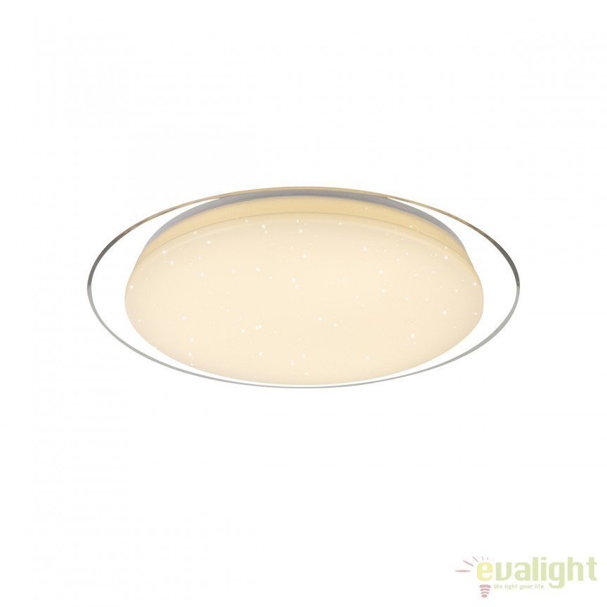 Plafoniera LED cu telecomanda design modern Optima 30W 41310-30 GL, Lampi LED si Telecomanda, Corpuri de iluminat, lustre, aplice, veioze, lampadare, plafoniere. Mobilier si decoratiuni, oglinzi, scaune, fotolii. Oferte speciale iluminat interior si exterior. Livram in toata tara.  a