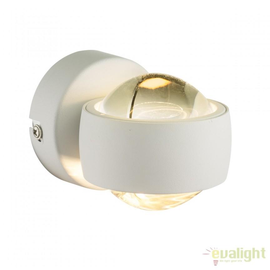 Aplica perete LED design minimalist Randi alba 78293 GL, Aplice de perete LED, Corpuri de iluminat, lustre, aplice, veioze, lampadare, plafoniere. Mobilier si decoratiuni, oglinzi, scaune, fotolii. Oferte speciale iluminat interior si exterior. Livram in toata tara.  a