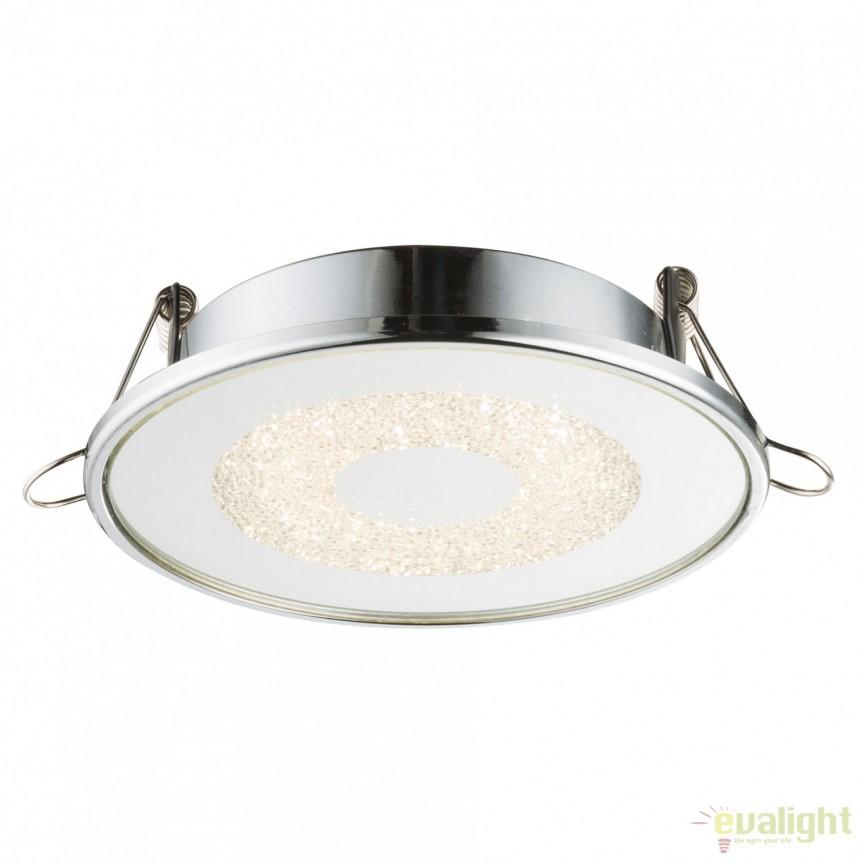 Spot LED incastrabil Ø9,2cm Manda 6W 12005 GL, Spoturi LED incastrate, aplicate, Corpuri de iluminat, lustre, aplice, veioze, lampadare, plafoniere. Mobilier si decoratiuni, oglinzi, scaune, fotolii. Oferte speciale iluminat interior si exterior. Livram in toata tara.  a