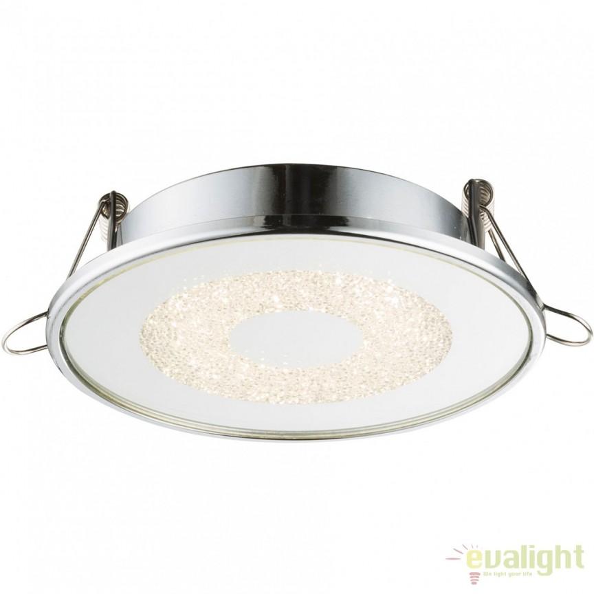 Spot LED incastrabil Ø11,2cm Manda 9W 12006 GL, Spoturi LED incastrate, aplicate, Corpuri de iluminat, lustre, aplice, veioze, lampadare, plafoniere. Mobilier si decoratiuni, oglinzi, scaune, fotolii. Oferte speciale iluminat interior si exterior. Livram in toata tara.  a