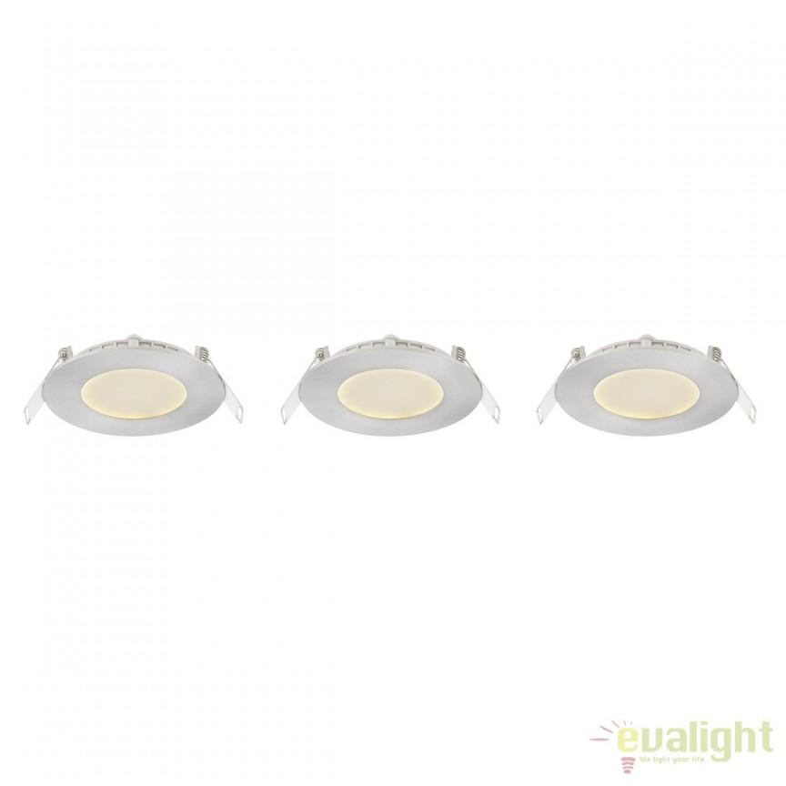 Set de 3 Spoturi LED incastrabile Ø8,5cm Alid 3W 12370N-3 GL, Spoturi LED incastrate, aplicate, Corpuri de iluminat, lustre, aplice, veioze, lampadare, plafoniere. Mobilier si decoratiuni, oglinzi, scaune, fotolii. Oferte speciale iluminat interior si exterior. Livram in toata tara.  a