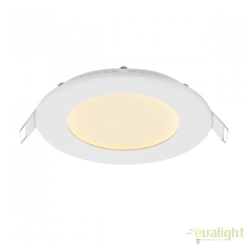 Spot LED incastrabil Ø12cm Alid II 6W 12371W GL, ILUMINAT INTERIOR LED , ⭐ modele moderne de lustre LED cu telecomanda potrivite pentru living, bucatarie, birou, dormitor, baie, camera copii (bebe si tineret), casa scarii, hol. ✅Design de lux premium actual Top 2020! ❤️Promotii lampi LED❗ ➽ www.evalight.ro. Alege oferte la sisteme si corpuri de iluminat cu LED dimabile (becuri cu leduri si module LED integrate cu lumina calda, naturala sau rece), ieftine si de lux, calitate deosebita la cel mai bun pret. a