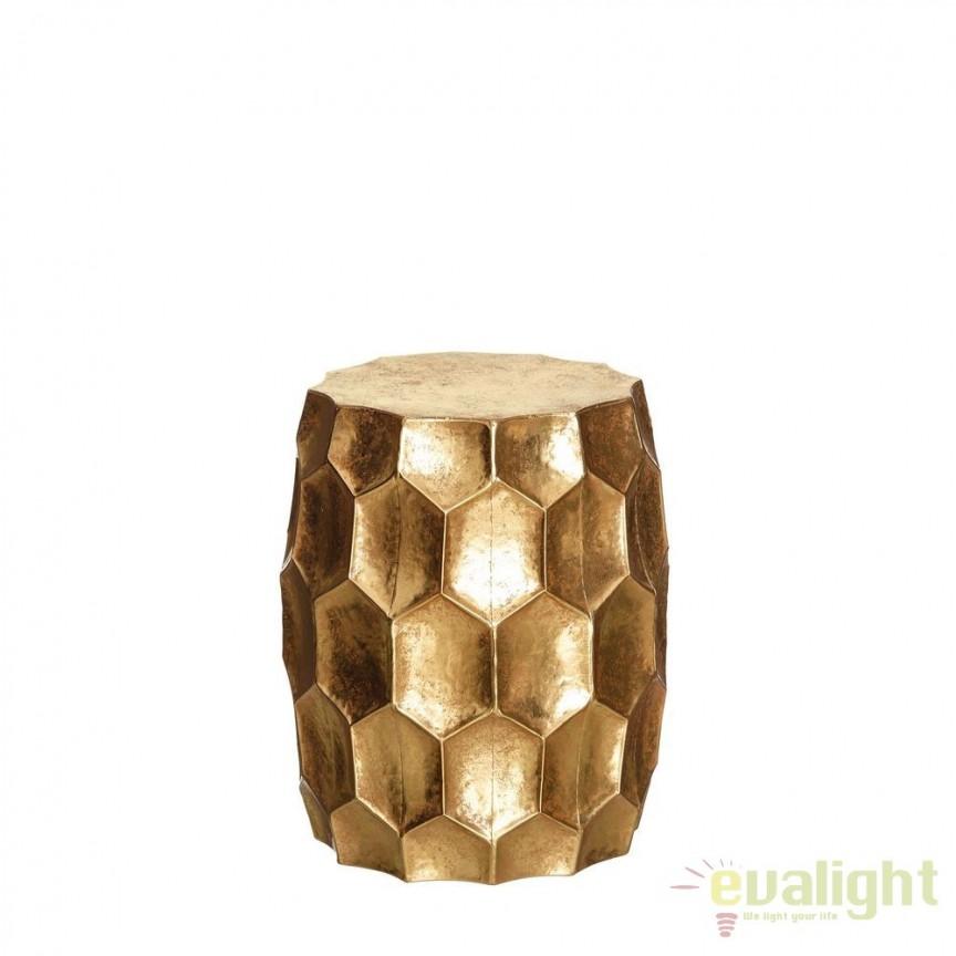 Taburete/ Masuta eleganta din metal finisaj auriu CENTRO SX-102170 , Tabureti - Banci, Corpuri de iluminat, lustre, aplice, veioze, lampadare, plafoniere. Mobilier si decoratiuni, oglinzi, scaune, fotolii. Oferte speciale iluminat interior si exterior. Livram in toata tara.  a