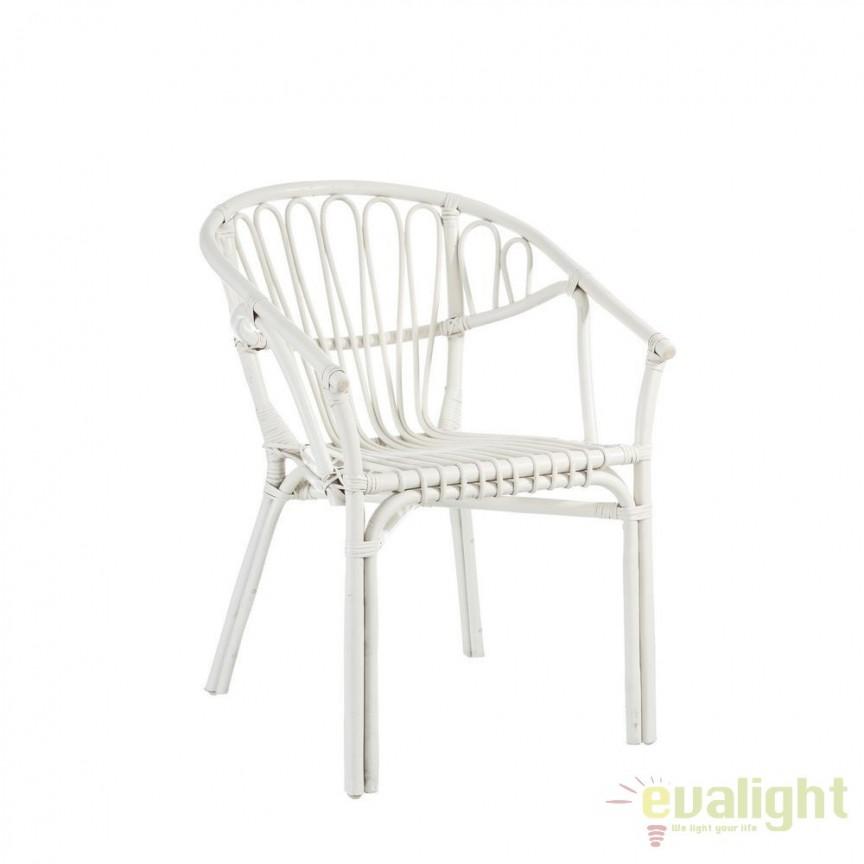 Set de 2 scaune design rustic Rattan, alb SX-101463, Seturi scaune dining, scaune HoReCa, Corpuri de iluminat, lustre, aplice, veioze, lampadare, plafoniere. Mobilier si decoratiuni, oglinzi, scaune, fotolii. Oferte speciale iluminat interior si exterior. Livram in toata tara.  a