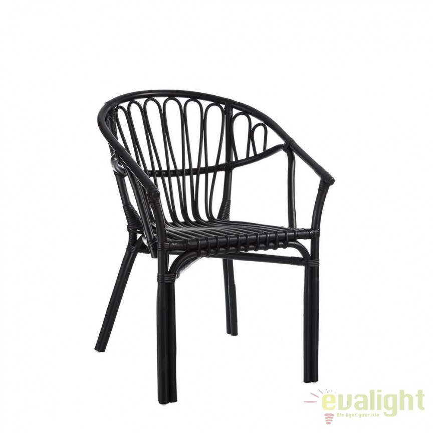Set de 2 scaune design rustic Rattan, negru SX-101464, Seturi scaune dining, scaune HoReCa, Corpuri de iluminat, lustre, aplice, veioze, lampadare, plafoniere. Mobilier si decoratiuni, oglinzi, scaune, fotolii. Oferte speciale iluminat interior si exterior. Livram in toata tara.  a