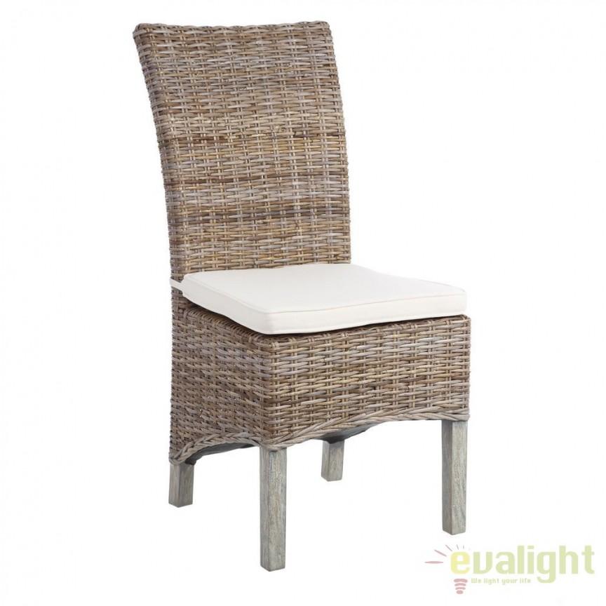 Set de 2 scaune design rustic Rattan III SX-101204, Seturi scaune dining, scaune HoReCa, Corpuri de iluminat, lustre, aplice, veioze, lampadare, plafoniere. Mobilier si decoratiuni, oglinzi, scaune, fotolii. Oferte speciale iluminat interior si exterior. Livram in toata tara.  a