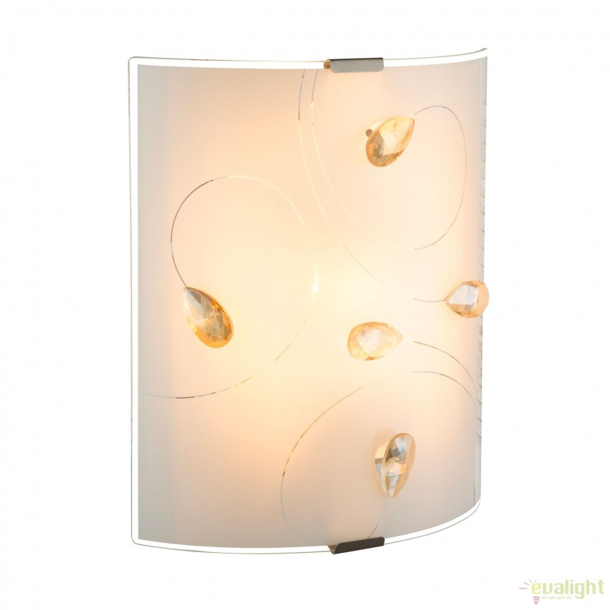 Aplica perete stil clasic Taveuni 40393W GL, Promotii si Reduceri⭐ Oferte ✅Corpuri de iluminat ✅Lustre ✅Mobila ✅Decoratiuni de interior si exterior.⭕Pret redus online➜Lichidari de stoc❗ Magazin ➽ www.evalight.ro. a