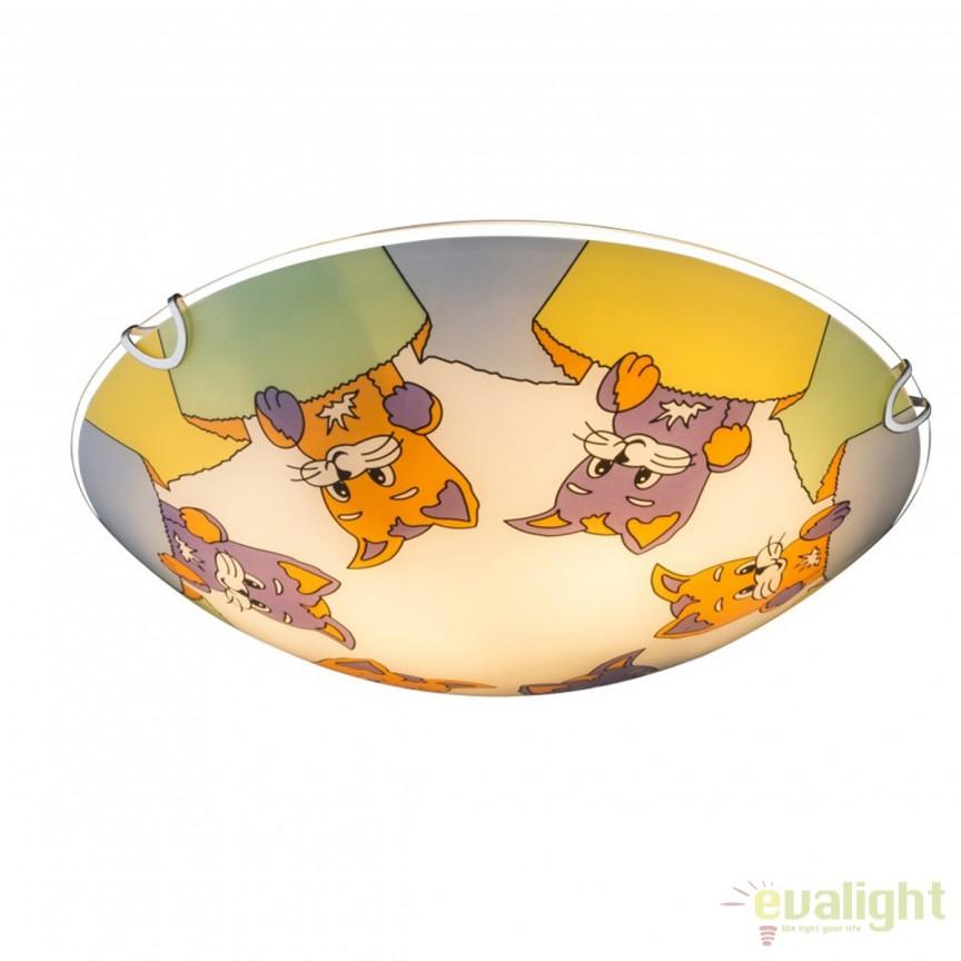 Plafoniera camera copii Kiddy I 40606 GL, Lustre - Iluminat pentru camera Copii, Corpuri de iluminat, lustre, aplice, veioze, lampadare, plafoniere. Mobilier si decoratiuni, oglinzi, scaune, fotolii. Oferte speciale iluminat interior si exterior. Livram in toata tara.  a