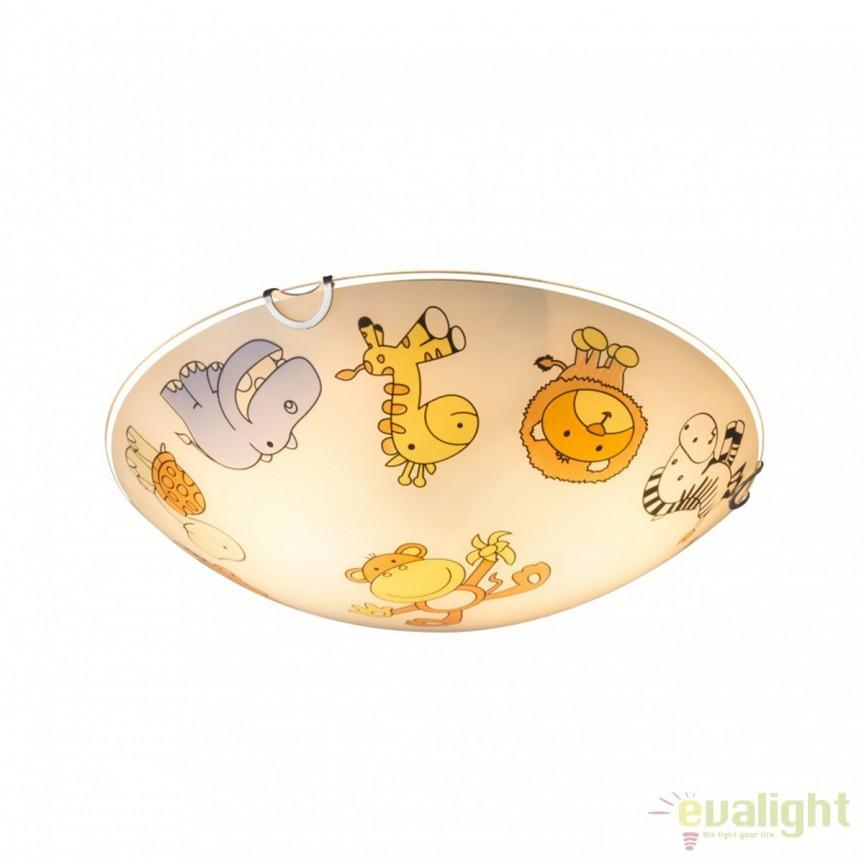 Plafoniera camera copii Kiddy III 40607 GL, Lustre - Iluminat pentru camera Copii, Corpuri de iluminat, lustre, aplice, veioze, lampadare, plafoniere. Mobilier si decoratiuni, oglinzi, scaune, fotolii. Oferte speciale iluminat interior si exterior. Livram in toata tara.  a