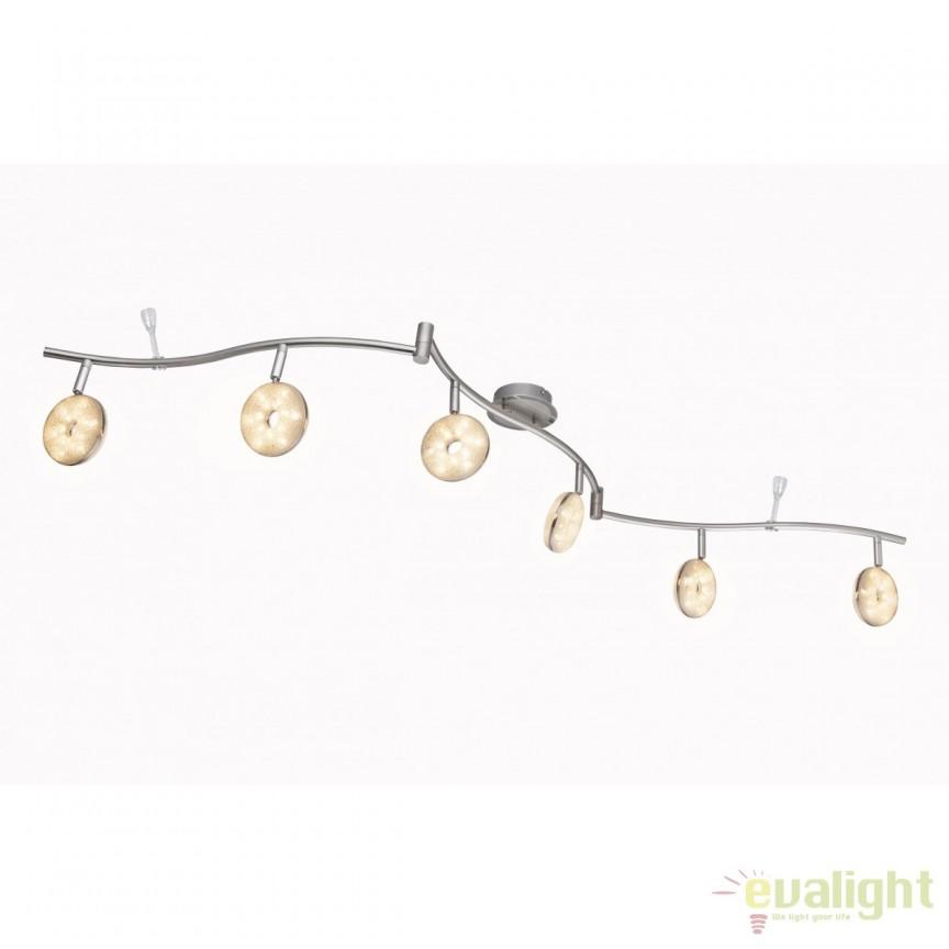 Lustra LED aplicata design modern Laila VI 56123-6 GL, Spoturi - iluminat - cu 5 si 6 spoturi, Corpuri de iluminat, lustre, aplice, veioze, lampadare, plafoniere. Mobilier si decoratiuni, oglinzi, scaune, fotolii. Oferte speciale iluminat interior si exterior. Livram in toata tara.  a