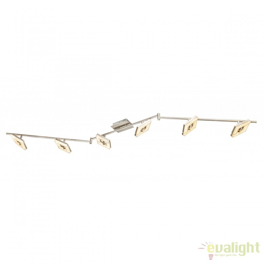 Lustra LED aplicata cu 6 spoturi Emma 56118-6 GL, Spoturi - iluminat - cu 5 si 6 spoturi, Corpuri de iluminat, lustre, aplice, veioze, lampadare, plafoniere. Mobilier si decoratiuni, oglinzi, scaune, fotolii. Oferte speciale iluminat interior si exterior. Livram in toata tara.  a