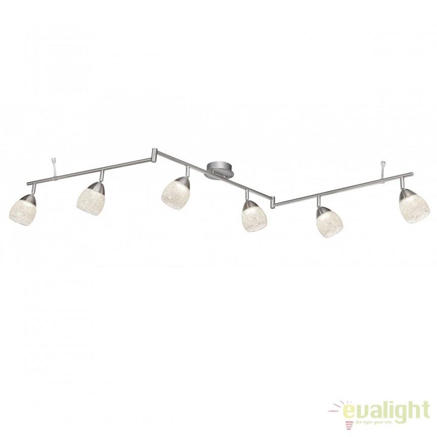 Plafoniera LED moderna cu 6 spoturi Helena 56003-6 GL, Spoturi - iluminat - cu 5 si 6 spoturi, Corpuri de iluminat, lustre, aplice, veioze, lampadare, plafoniere. Mobilier si decoratiuni, oglinzi, scaune, fotolii. Oferte speciale iluminat interior si exterior. Livram in toata tara.  a