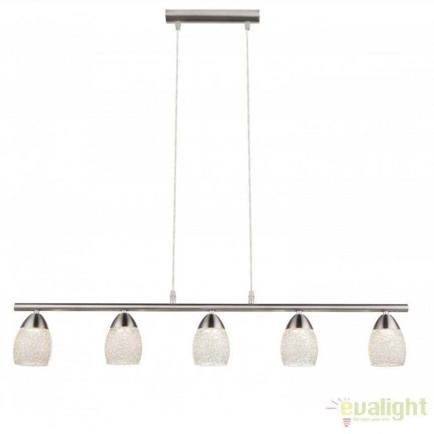 Lustra LED moderna cu 5 spoturi Helena 56003-5H GL, Lustre LED, Pendule LED, Corpuri de iluminat, lustre, aplice, veioze, lampadare, plafoniere. Mobilier si decoratiuni, oglinzi, scaune, fotolii. Oferte speciale iluminat interior si exterior. Livram in toata tara.  a
