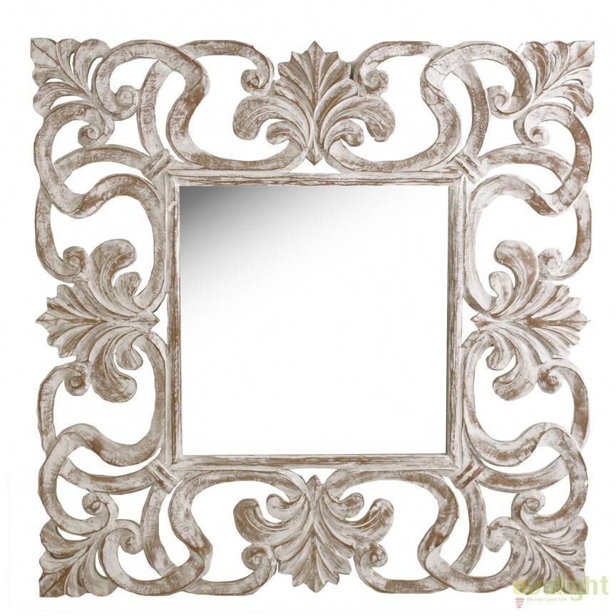 Oglinda design vintage Teka, 122x122cm 22495 VH, Oglinzi decorative, Corpuri de iluminat, lustre, aplice, veioze, lampadare, plafoniere. Mobilier si decoratiuni, oglinzi, scaune, fotolii. Oferte speciale iluminat interior si exterior. Livram in toata tara.  a
