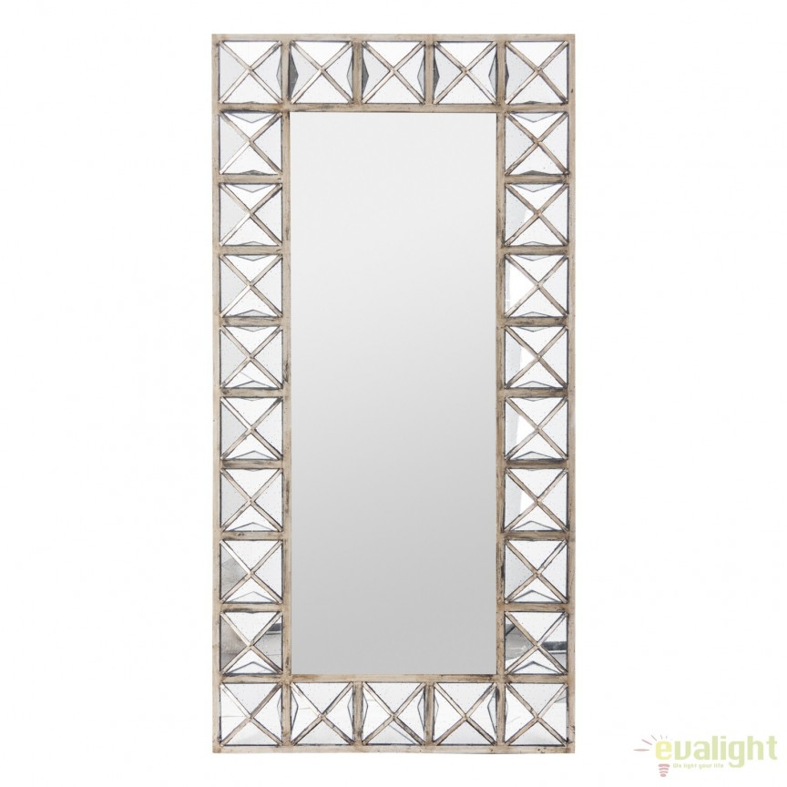 Oglinda design Art Deco placata cu oglinda antic, ORLEANS, 187x94cm 19988 VH, Oglinzi decorative, Corpuri de iluminat, lustre, aplice, veioze, lampadare, plafoniere. Mobilier si decoratiuni, oglinzi, scaune, fotolii. Oferte speciale iluminat interior si exterior. Livram in toata tara.  a