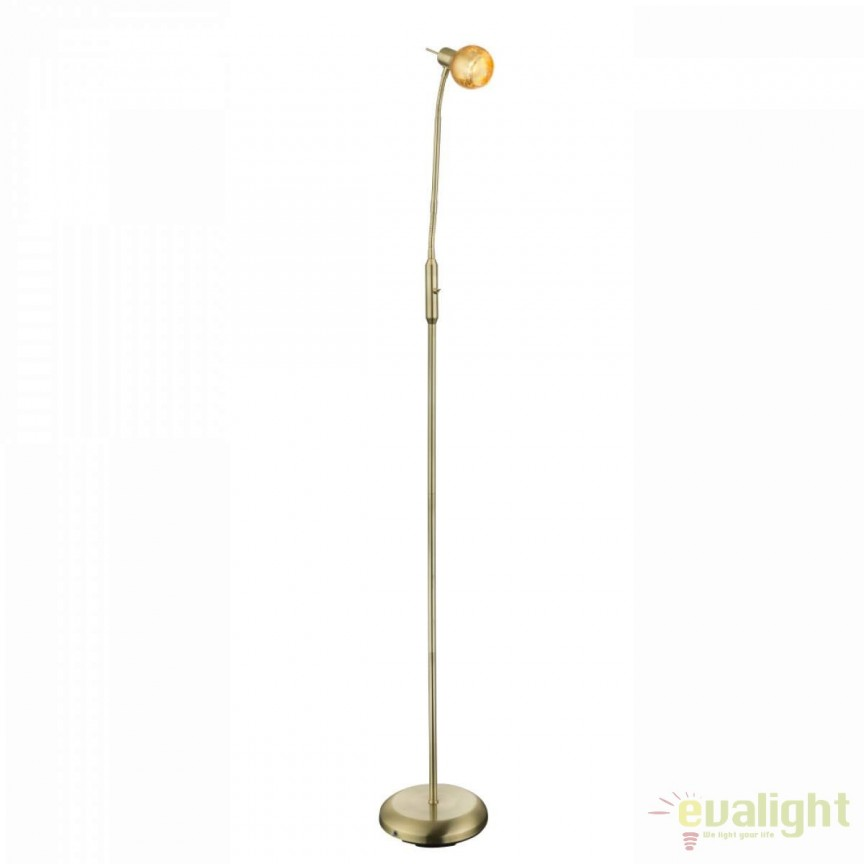 Lampadar / Lampa podea stil clasic Tigre 54841-1S GL, Lampadare clasice, Corpuri de iluminat, lustre, aplice, veioze, lampadare, plafoniere. Mobilier si decoratiuni, oglinzi, scaune, fotolii. Oferte speciale iluminat interior si exterior. Livram in toata tara.  a
