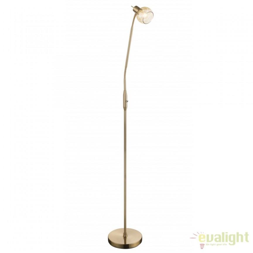 Lampadar LED / Lampa de podea design modern Lara 54346-1S GL, Veioze LED, Lampadare LED, Corpuri de iluminat, lustre, aplice, veioze, lampadare, plafoniere. Mobilier si decoratiuni, oglinzi, scaune, fotolii. Oferte speciale iluminat interior si exterior. Livram in toata tara.  a