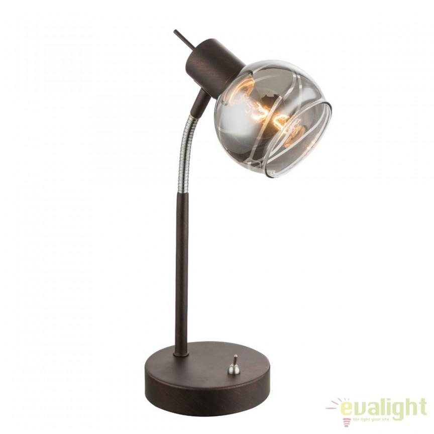 Veioza LED / Lampa de masa design modern Lara 54347-1T GL, Veioze LED, Lampadare LED, Corpuri de iluminat, lustre, aplice, veioze, lampadare, plafoniere. Mobilier si decoratiuni, oglinzi, scaune, fotolii. Oferte speciale iluminat interior si exterior. Livram in toata tara.  a