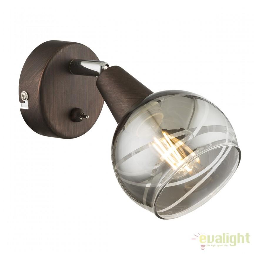 Aplica perete LED design modern Isla 54347-1 GL, Aplice de perete LED, Corpuri de iluminat, lustre, aplice, veioze, lampadare, plafoniere. Mobilier si decoratiuni, oglinzi, scaune, fotolii. Oferte speciale iluminat interior si exterior. Livram in toata tara.  a