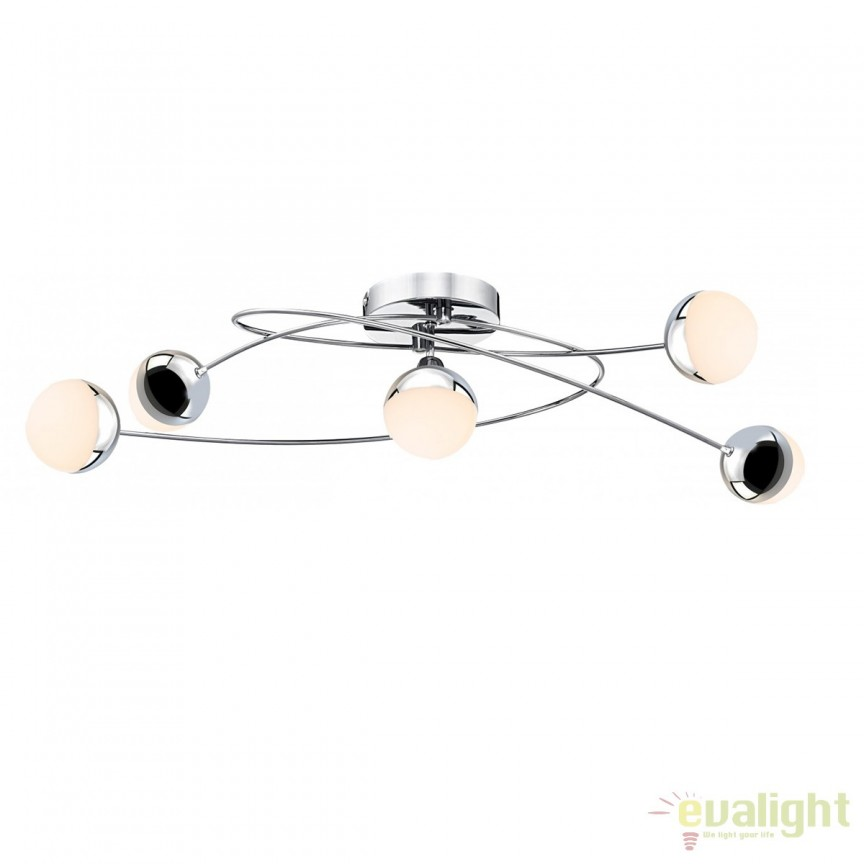 Lustra LED aplicata design modern Utila 5L 56127-5D GL, Spoturi - iluminat - cu 5 si 6 spoturi, Corpuri de iluminat, lustre, aplice, veioze, lampadare, plafoniere. Mobilier si decoratiuni, oglinzi, scaune, fotolii. Oferte speciale iluminat interior si exterior. Livram in toata tara.  a