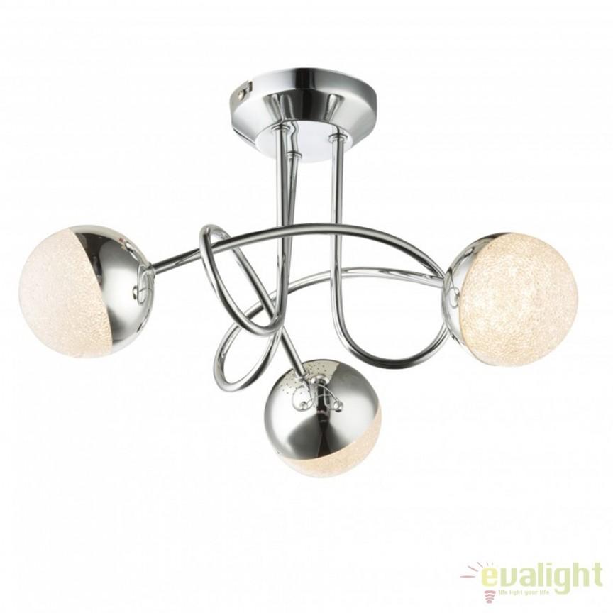 Lustra LED aplicata design modern Utila 3L 56127-3D GL, Lustre LED, Pendule LED, Corpuri de iluminat, lustre, aplice, veioze, lampadare, plafoniere. Mobilier si decoratiuni, oglinzi, scaune, fotolii. Oferte speciale iluminat interior si exterior. Livram in toata tara.  a