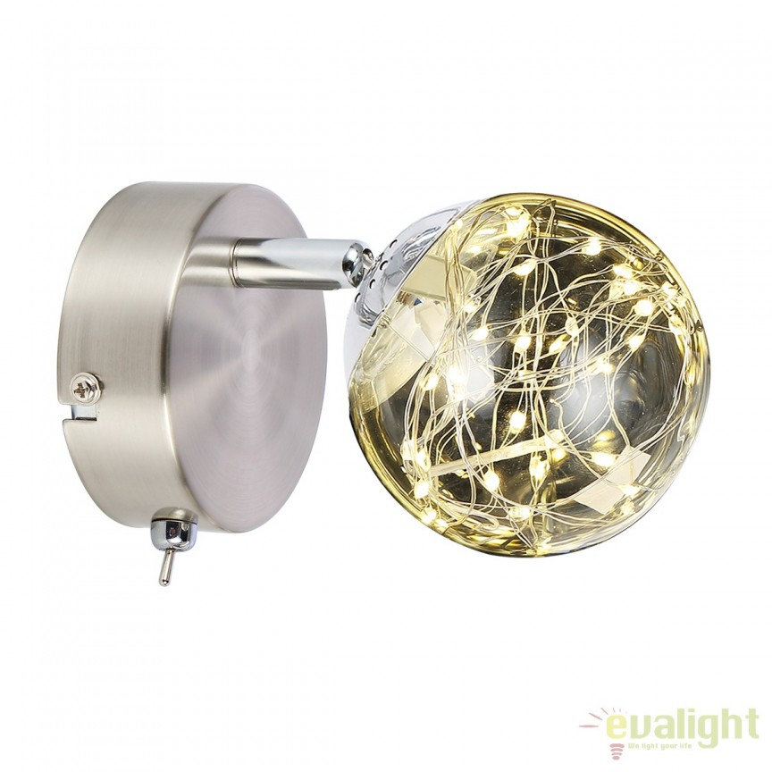 Aplica perete LED design modern XMAS 56804-1 GL, Aplice de perete LED, Corpuri de iluminat, lustre, aplice, veioze, lampadare, plafoniere. Mobilier si decoratiuni, oglinzi, scaune, fotolii. Oferte speciale iluminat interior si exterior. Livram in toata tara.  a