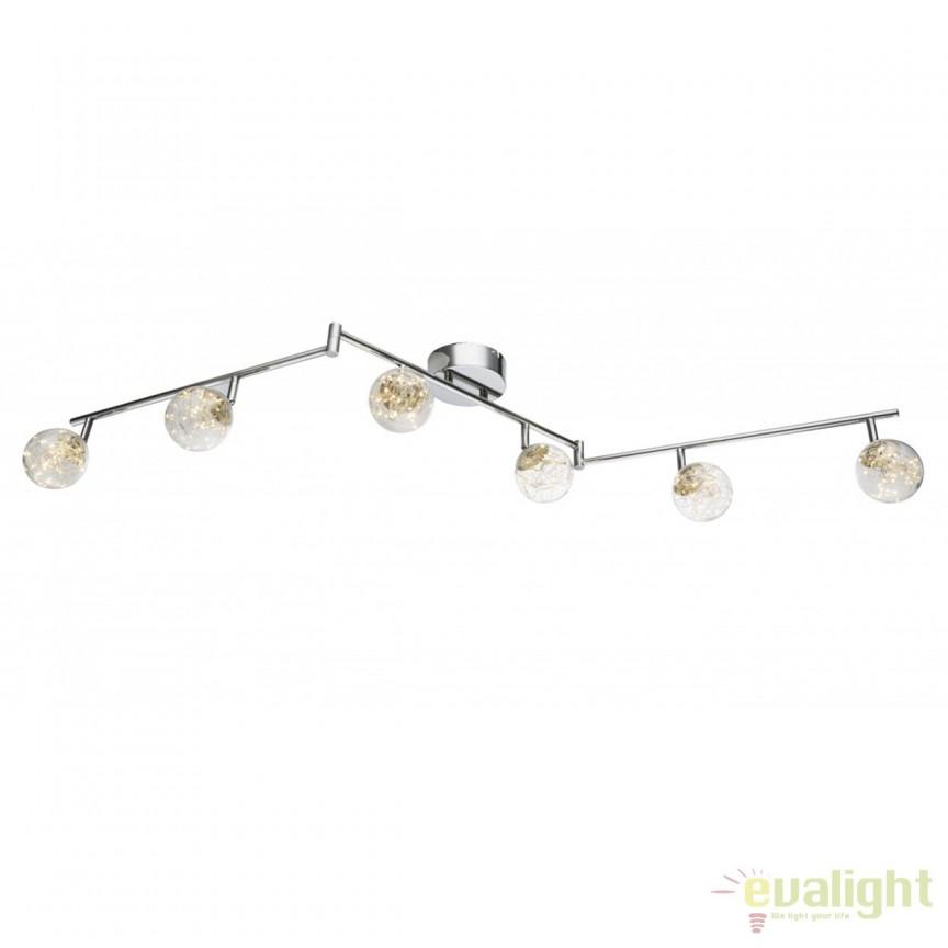 Plafoniera LED design modern XMAS 6L 56804-6 GL, Spoturi - iluminat - cu 5 si 6 spoturi, Corpuri de iluminat, lustre, aplice, veioze, lampadare, plafoniere. Mobilier si decoratiuni, oglinzi, scaune, fotolii. Oferte speciale iluminat interior si exterior. Livram in toata tara.  a
