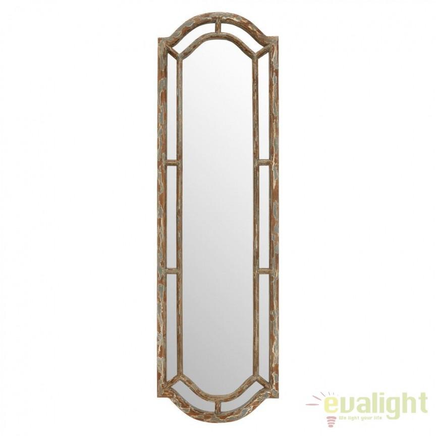 Oglinda design art deco cu rama din lemn Gray SX-91156, Oglinzi decorative, Corpuri de iluminat, lustre, aplice, veioze, lampadare, plafoniere. Mobilier si decoratiuni, oglinzi, scaune, fotolii. Oferte speciale iluminat interior si exterior. Livram in toata tara.  a