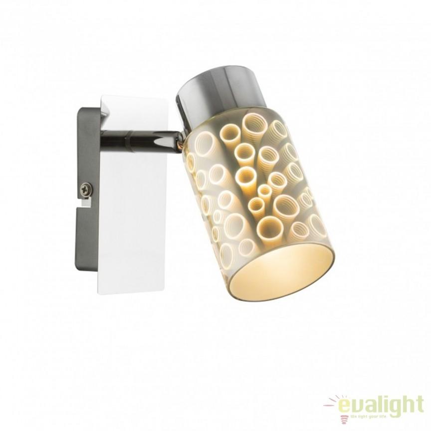 Aplica perete LED moderna Oku 56124-1 GL, Aplice de perete LED, Corpuri de iluminat, lustre, aplice, veioze, lampadare, plafoniere. Mobilier si decoratiuni, oglinzi, scaune, fotolii. Oferte speciale iluminat interior si exterior. Livram in toata tara.  a