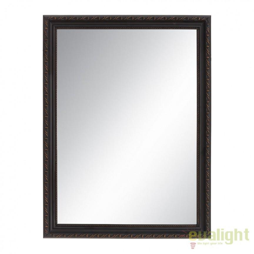 Oglinda decorativa cu rama din lemn Negro 59x79cm SX-91180, Oglinzi decorative, Corpuri de iluminat, lustre, aplice, veioze, lampadare, plafoniere. Mobilier si decoratiuni, oglinzi, scaune, fotolii. Oferte speciale iluminat interior si exterior. Livram in toata tara.  a