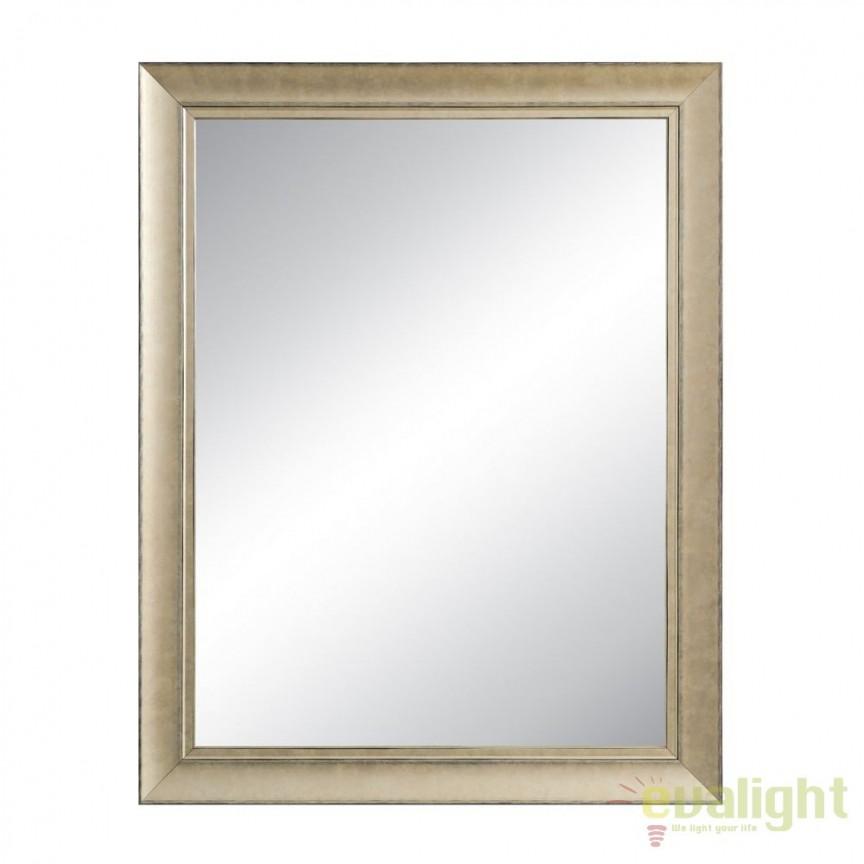 Oglinda de perete cu rama din lemn CHAMPÁN, 93x53cm SX-92493, Oglinzi decorative, Corpuri de iluminat, lustre, aplice, veioze, lampadare, plafoniere. Mobilier si decoratiuni, oglinzi, scaune, fotolii. Oferte speciale iluminat interior si exterior. Livram in toata tara.  a