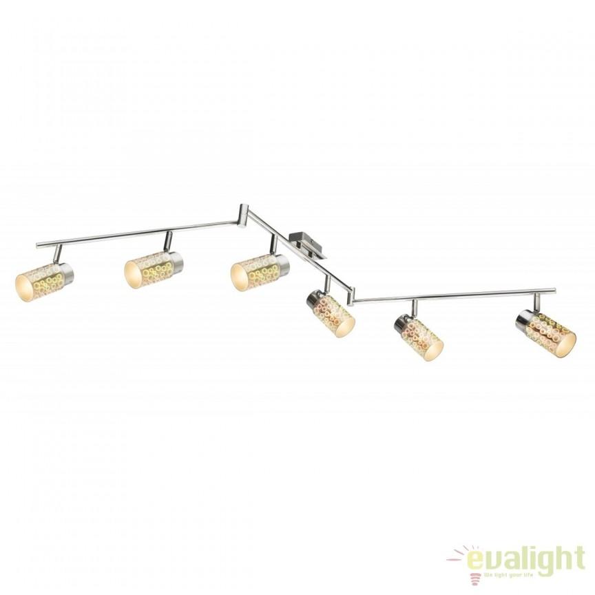 Plafoniera LED moderna Oku 6L 56124-6 GL, Spoturi - iluminat - cu 5 si 6 spoturi, Corpuri de iluminat, lustre, aplice, veioze, lampadare, plafoniere. Mobilier si decoratiuni, oglinzi, scaune, fotolii. Oferte speciale iluminat interior si exterior. Livram in toata tara.  a