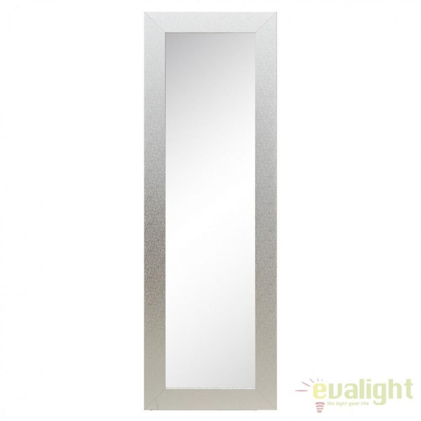 Oglinda decorativa cu rama din MDF argintiu, Alyna 50x150cm SX-103114, Oglinzi decorative, Corpuri de iluminat, lustre, aplice, veioze, lampadare, plafoniere. Mobilier si decoratiuni, oglinzi, scaune, fotolii. Oferte speciale iluminat interior si exterior. Livram in toata tara.  a