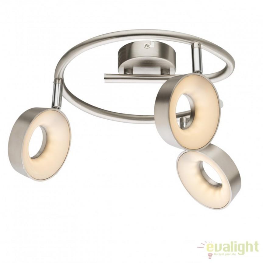 Plafoniera LED moderna Abril 3L 56132-3 GL, Plafoniere LED, Spoturi LED, Corpuri de iluminat, lustre, aplice, veioze, lampadare, plafoniere. Mobilier si decoratiuni, oglinzi, scaune, fotolii. Oferte speciale iluminat interior si exterior. Livram in toata tara.  a
