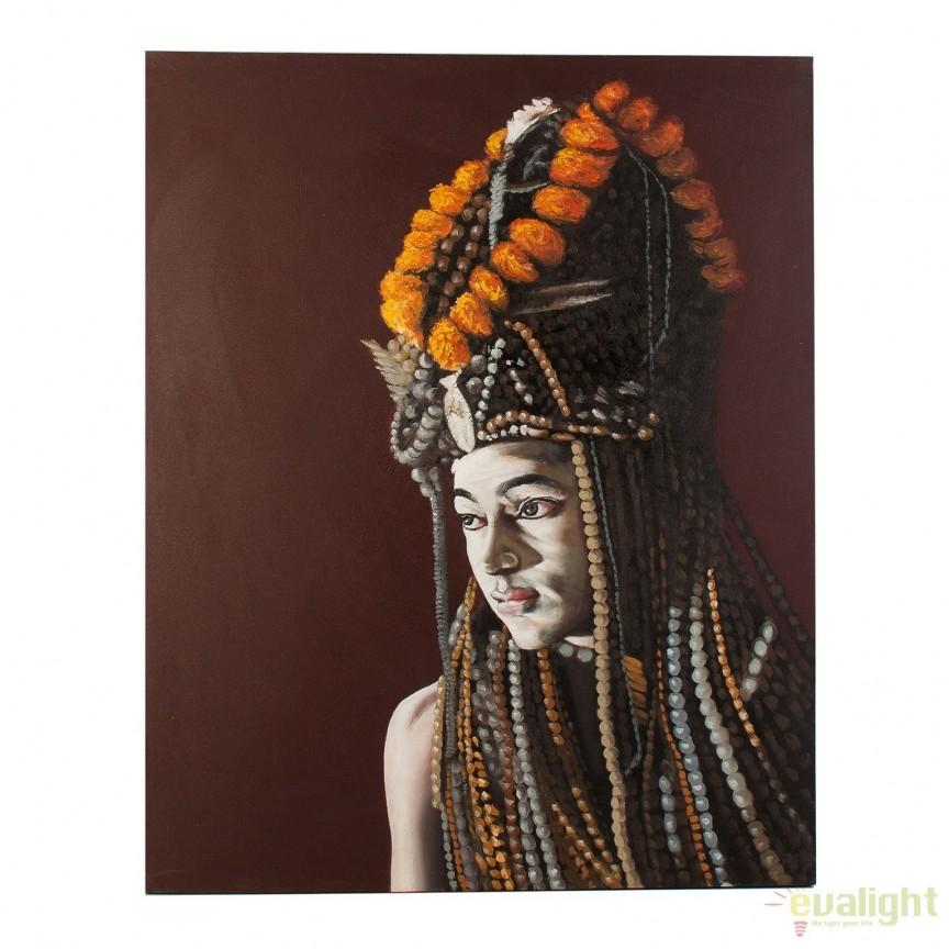 Tablou stil etnic, imagine imprimata pe panza AFRICANA, 120x150cm 24400 VH, Tablouri decorative, Corpuri de iluminat, lustre, aplice, veioze, lampadare, plafoniere. Mobilier si decoratiuni, oglinzi, scaune, fotolii. Oferte speciale iluminat interior si exterior. Livram in toata tara.  a