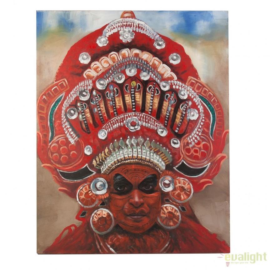 Tablou stil etnic, imagine imprimata pe panza TUXPAN, 120x150cm 24408 VH, Tablouri decorative, Corpuri de iluminat, lustre, aplice, veioze, lampadare, plafoniere. Mobilier si decoratiuni, oglinzi, scaune, fotolii. Oferte speciale iluminat interior si exterior. Livram in toata tara.  a