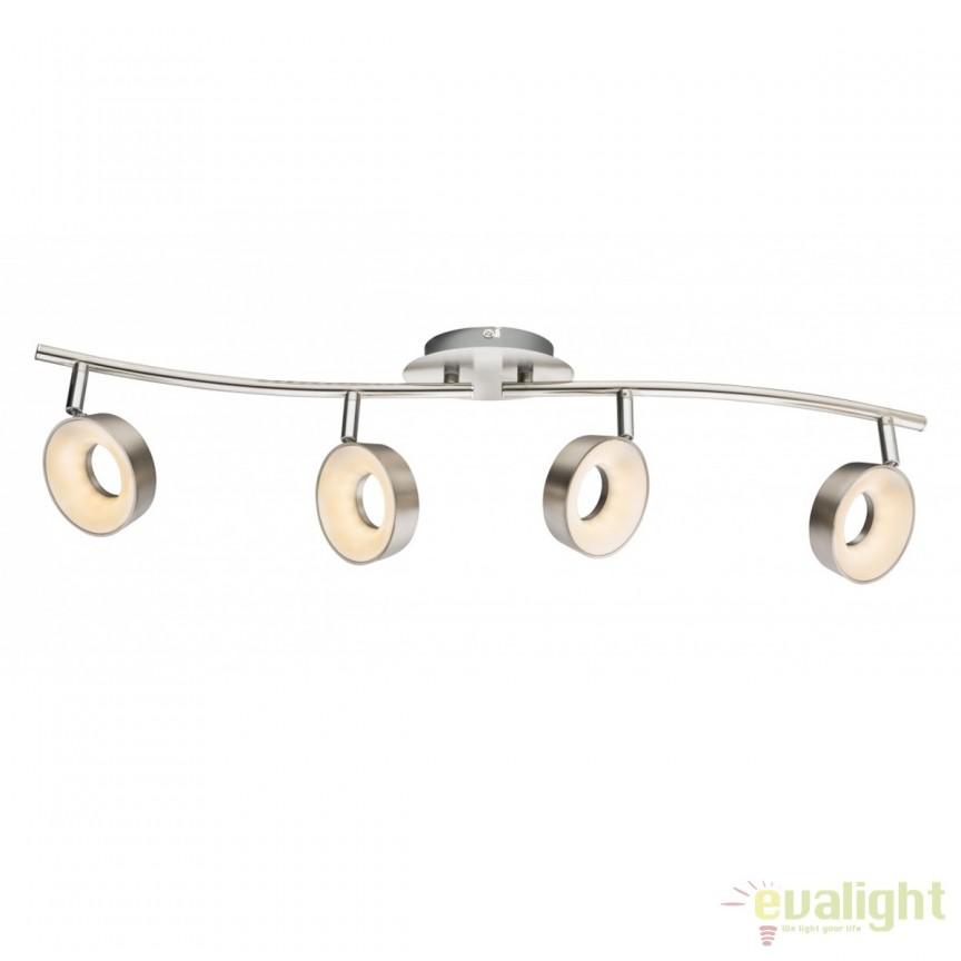 Plafoniera LED moderna Abril 4L 56132-4 GL, Plafoniere LED, Spoturi LED, Corpuri de iluminat, lustre, aplice, veioze, lampadare, plafoniere. Mobilier si decoratiuni, oglinzi, scaune, fotolii. Oferte speciale iluminat interior si exterior. Livram in toata tara.  a