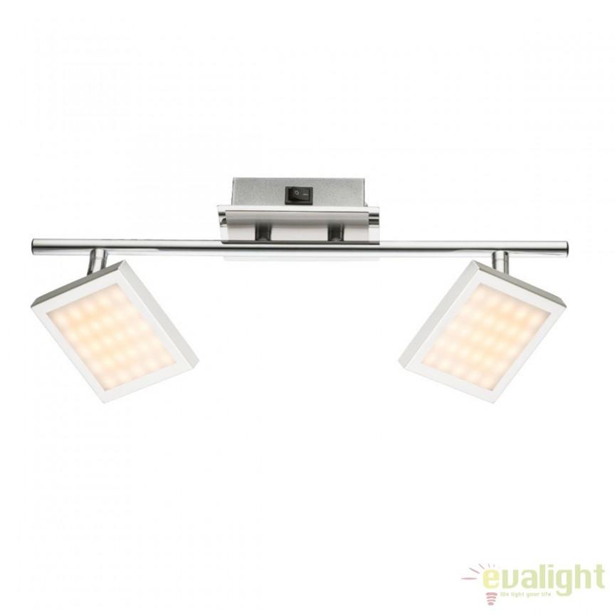Aplica de perete LED moderna Tombel 2L 56122-2 GL, Aplice de perete LED, Corpuri de iluminat, lustre, aplice, veioze, lampadare, plafoniere. Mobilier si decoratiuni, oglinzi, scaune, fotolii. Oferte speciale iluminat interior si exterior. Livram in toata tara.  a